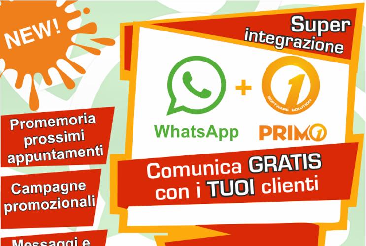 Primo e Whatsapp finalmente insieme