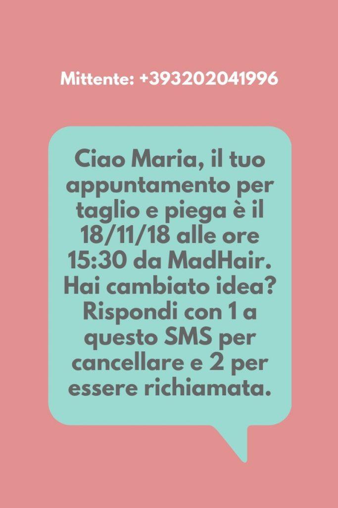 Esempio di ricezione sms