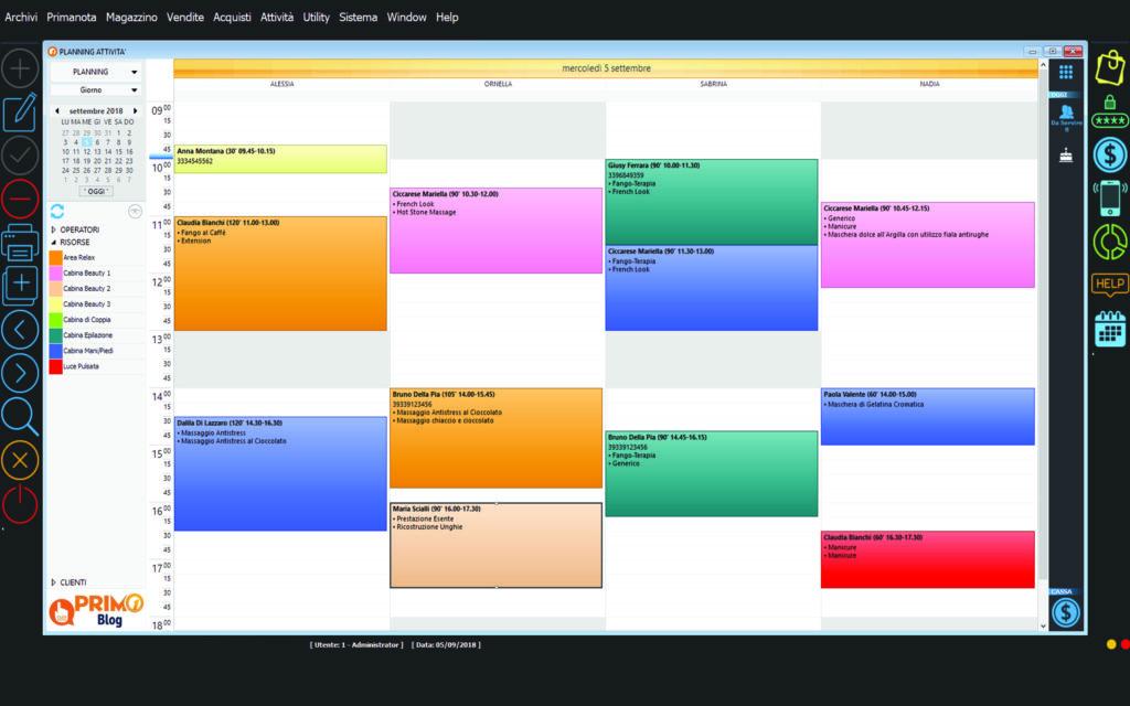 Agenda web desktop