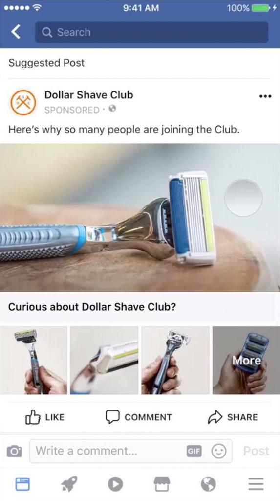 Fai pubblicità su Facebook